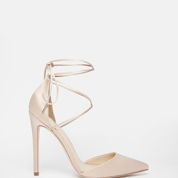 ASOS PROMISES Lace Up Pointed High Heels