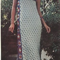 Vintage Crochet At Home Long Dress | Los Angeles Needlework