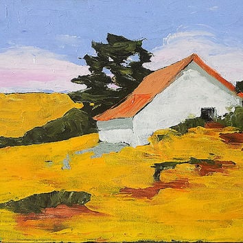 Impressionist Oil Painting California Plein Air BARN Rustic Cottage Country FARM Shed 18 x 24 Landscape Art FREE Shipping Lynne French