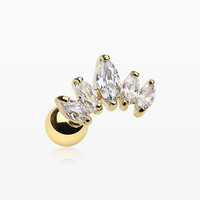 Golden Princess Sparkle Journey Cartilage Barbell