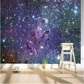 Mural Wallpaper for Living Room Outside The Sky Galaxy Universe Wall Paper Bedroom Background Sofa Modern Painting Home Decor