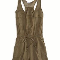 AEO Women's Surplus Romper (Olive)