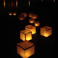 10 Bio-Degradable Water & Decorative Tealight Lanterns - Sky Lanterns - Wedding - Adult Occasions