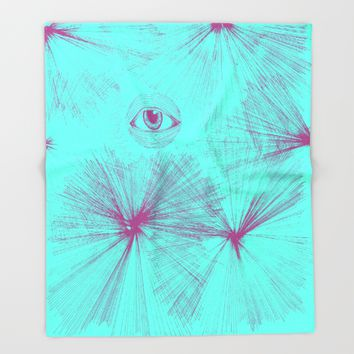 Uncommon Knowledge - Teal Throw Blanket by Ducky B