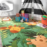 nuLOOM Hand Tufted King of the Jungle Area Rug