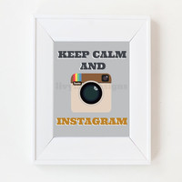 8x10 Keep Calm And Instagram | Luulla