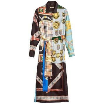 Silk Print Dress by Burberry