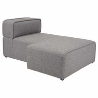 Modern Right Sectional Chaise - Björn - Pebble