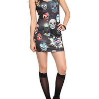 Royal Bones Crazy Skulls Contour Dress | Hot Topic