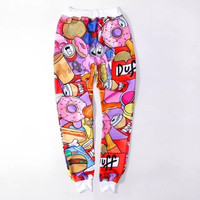 HOT EMOJI style print pants funny cartoon sweatpants long joggers loose trousers sportswear women mens clothes = 5710932801