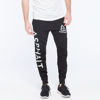Ayc Mesh Logo Mens Sweat Pants Black  In Sizes