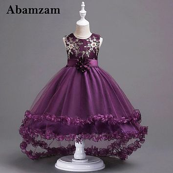 Summer Girls Dresses For Party And Wedding Formal Infant Fashion Children Princess Trailing Birthday Evening Teenagers Sundress