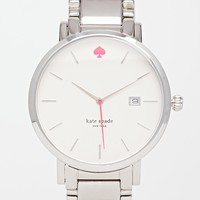 Kate Spade Gramercy Grand Silver Watch