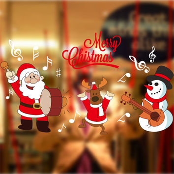 Christmas Decoration Stickers Glass Wall Sticker [8423720897]