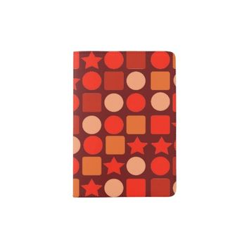 Orange Flavored Geometric Passport Holder