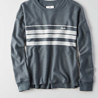 AEO Easy Graphic Fleece Sweatshirt, Seafoam