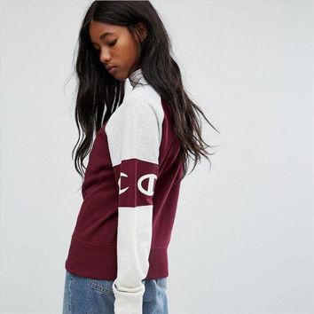 Champion Fashion High Collar Pullover Top Sweatshirt Sweater