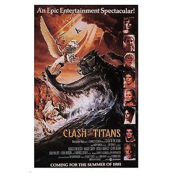 EPIC ADVENTURE CLASH of the TITANS movie poster desmond DAVIS 1981 24X36 new