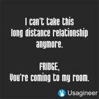 I CAN'T TAKE THIS LONG DISTANCE RELATIONSHIP ANYMORE FRIDGE, YOU'RE COMING TO MY ROOM QUOTE VINYL DECAL STICKER