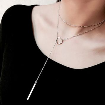Circle and Bar Necklace