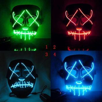 Halloween LED Masks Illuminate The Annual Trend Of Interesting Masks Role-playing Costumes New Era Role-playing Feats