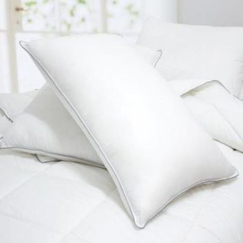 Set of 2-Caress-Polyester Bed Pillows-Filled & Finished in USA-2 Year Warranty