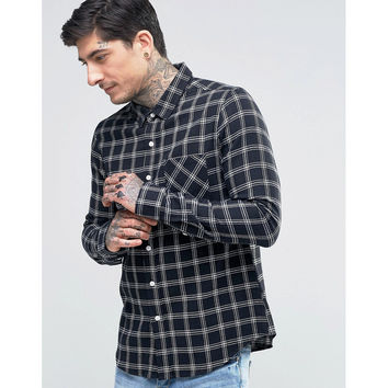 Checked Flannel Long Sleeve Shirt (Men's)