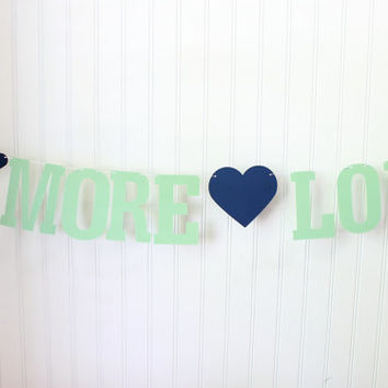 S'more Love Banner, S'more Bar, Wedding Decor, Reception Decor, Dessert Table Sign, Love is Sweet, S'more Bar Decor, Mint Wedding Decor