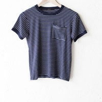 Striped Ringer Pocket Tee