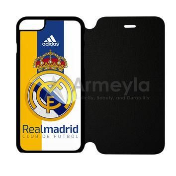 Real Madrid Fc Jersey Black Adidas iPhone 6 Plus/6S Plus Flip Case | armeyla.com