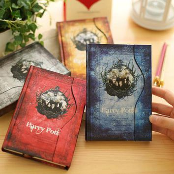 Vintage Harry Potter Notebook Movie Personal Diary Weekly Plan Planner Book 2017-2018 Agenda Organizer Magnetic Retro Notebook