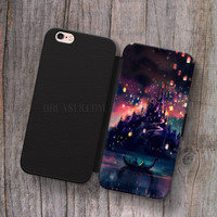 Disney tangled lantern Wallet Leather Case for iPhone 4s 5s 5C SE 6S Plus Case, Samsung S3 S4 S5 S6 S7 Edge Note 3 4 5 Cases
