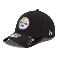Men's Pittsburgh Steelers New Era Team Classic 39THIRTY Flex Black Hat