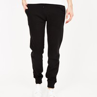 The Idle Man Basic Joggers Black