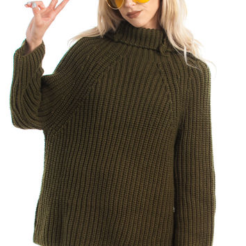 Vintage 90's Extend the Olive Branch Pullover - One Size Fits Many