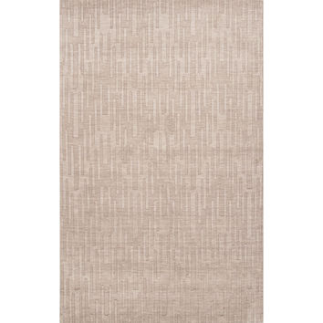 Solids Braided Pattern Gray Wool Area Rug (2x3)