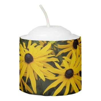 Black Eyed Susans Floral Photo Votive Candle