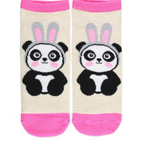 Panda-Patterned Ankle Socks