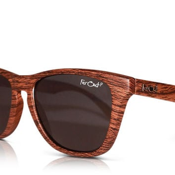 Wood Grain Polarized Black Lens