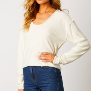 Cropped Sweater, Ivory