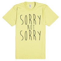 Sorry Not Sorry-Unisex Lemon T-Shirt