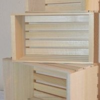 Amish Wares Small Miniature Sized Poplar Crates, Handmade, Set of 3
