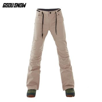 GSOUSNOW snowboard pants men 2018 winter new style windshield and warm men outdoor ski pants S-XL