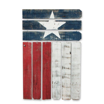 Recherche Furnishings Country Rustic Natural Reclaimed Texas Wall Flag Decor ...
