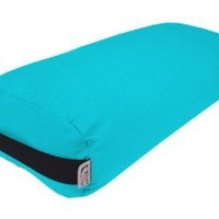Bean Products Bolster Rectangle Yoga & Meditation Cushion - Made In The USA Aqua Duck