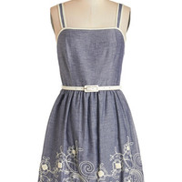 ModCloth Sleeveless A-line Kismet and Tell Dress