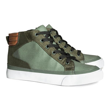 H&M - High Tops - Khaki green - Kids