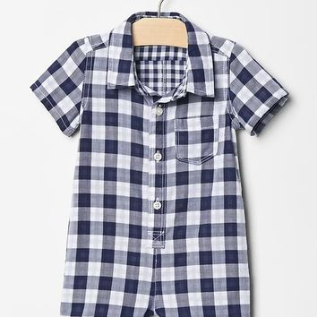 Gap Baby Plaid Button Up One Piece