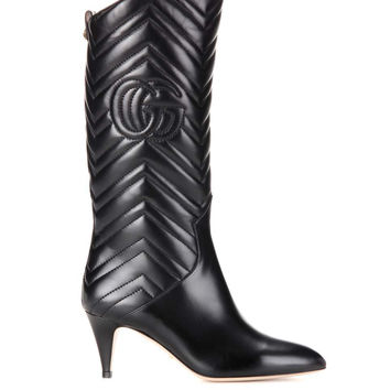 GUCCI Matelassé leather boots