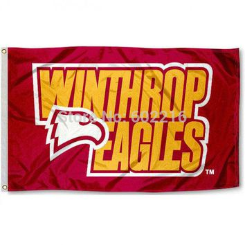 Winthrop Eagles College Large Outdoor Flag 3ft x 5ft Football Hockey Baseball USA Flag